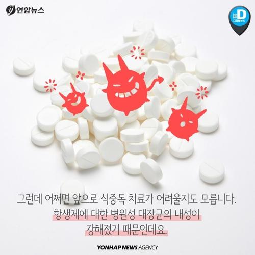 한국 항생제 처방률 OECD 최고…간