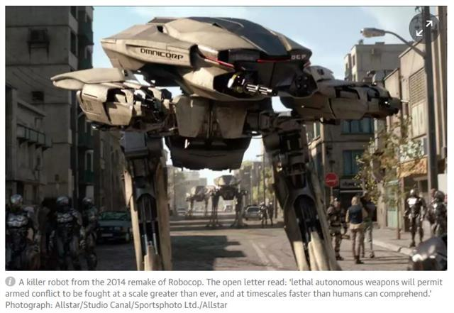 AI가 인간 생사 결정? '킬러로봇'