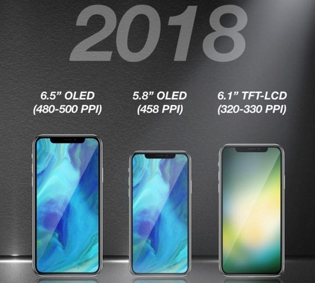 애플, 6.5인치 대화면 '아이폰X
