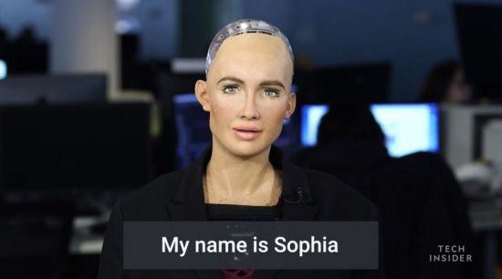 세계 첫 '로봇 시민' 소피아, 언론
