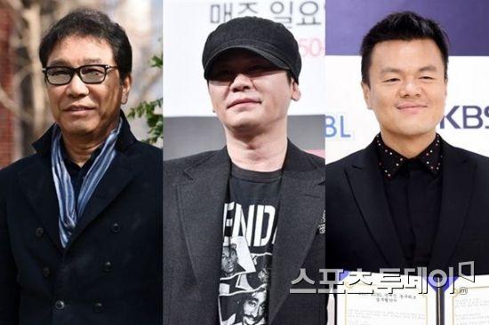 이수만·양현석·박진영, 연예계 100
