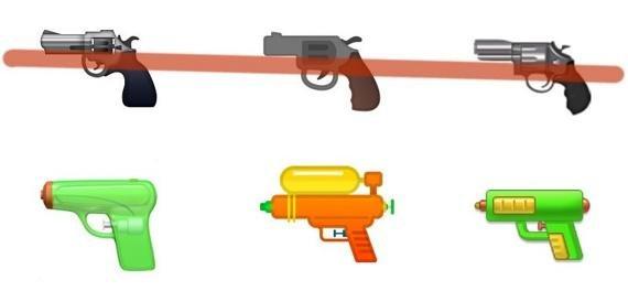 구글·애플·삼성 '권총→물총' 이모지