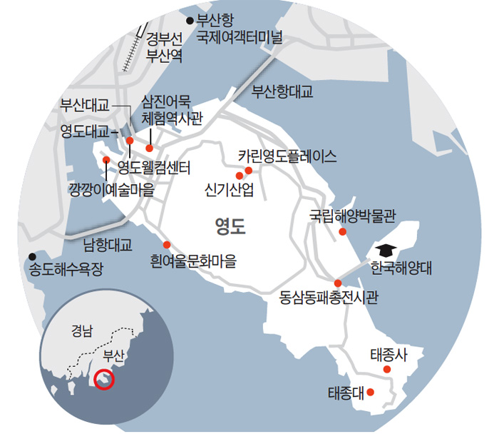 태종사 수국 5000그루, 해안 절벽