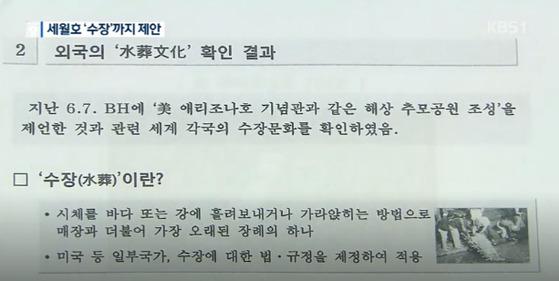 """""""수장도 장례다""""…기무사, 靑에 세월"""