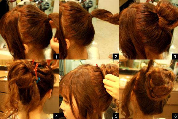 올림머리 연출법