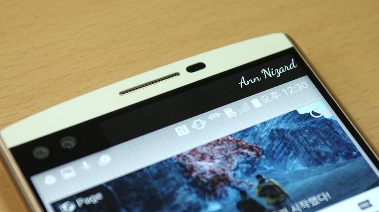 LG V10, 세컨드스크린과 활용성