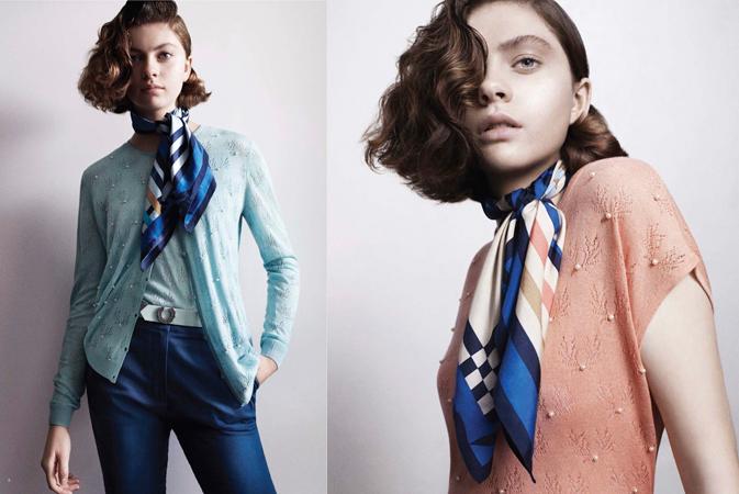봄 패션의 시작! 남녀 스카프 스타일
