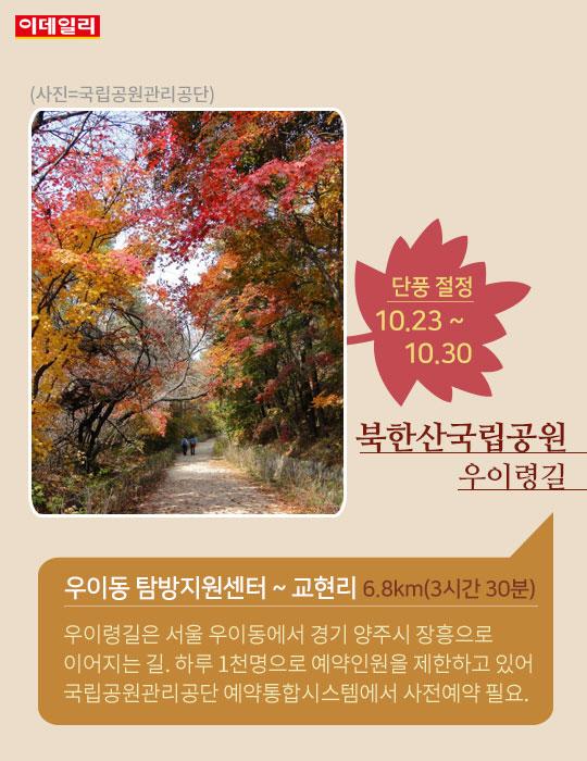 가족과 함께 걷는 국립공원 단풍길 1