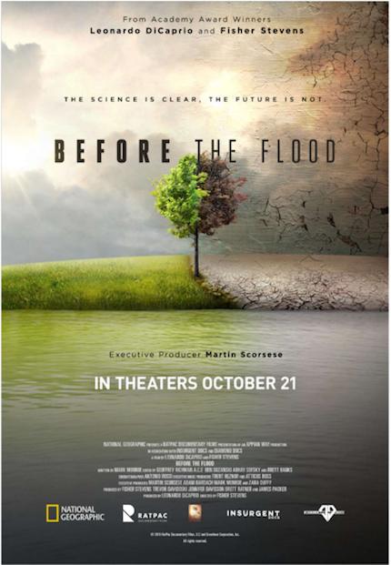 홍수가 일어나기 전에 디카프리오를 봐