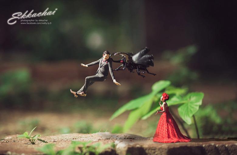 """""""소인국 속 웨딩"""" 세상에서 가장 작"""
