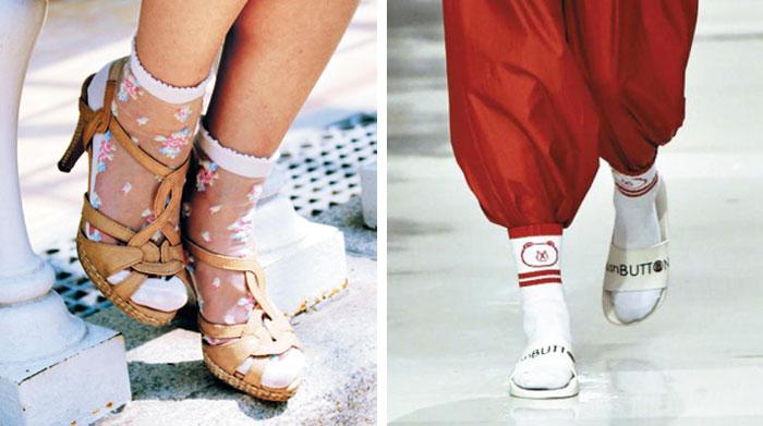 촌티의 상징, 신발을 뚫고 나오다