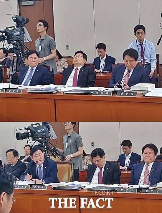 '고개가 꼴깍' 강경화 청문회서 '꿀