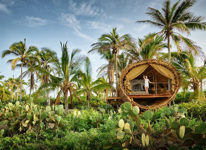 대나무로 만든 멕시코의 친환경 호텔