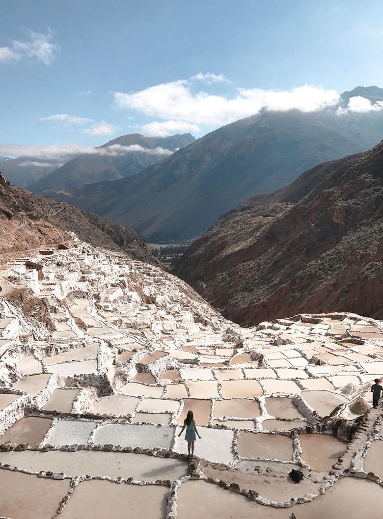 페루 쿠스코에 위치한 MARAS 소금