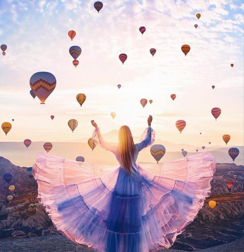 환상 속의 아름다운 사진을 찍는 작가