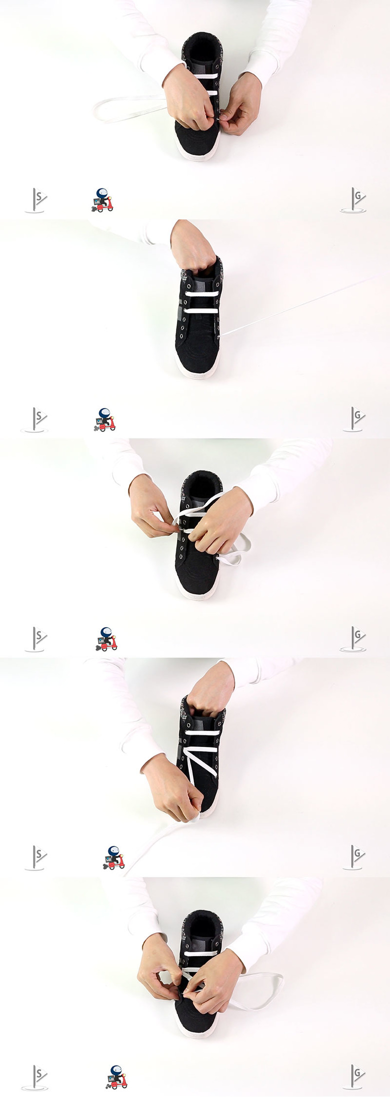 신발끈 예쁘게 묶는 방법
