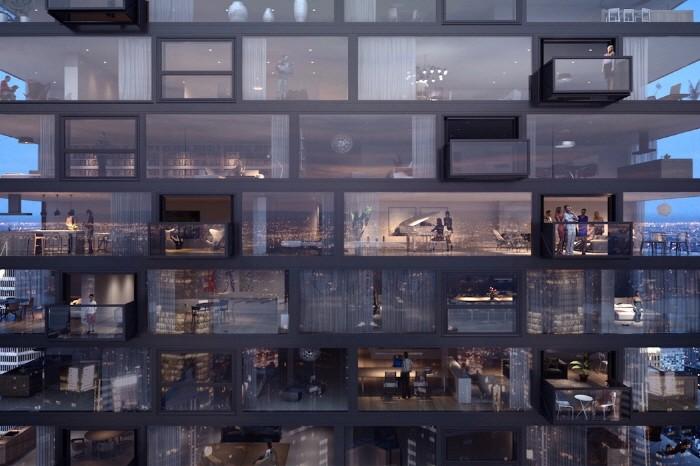 초고층 아파트… 원터치 발코니?