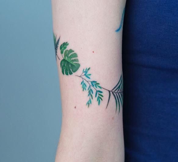그림과 같이 아름다운 동식물 타투