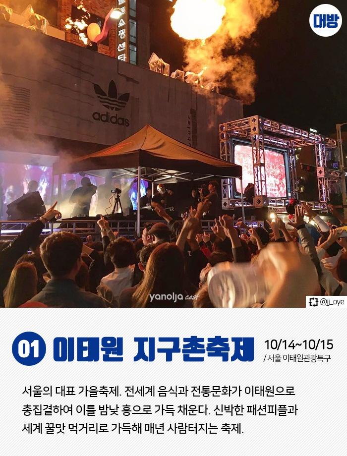 전국 10월 축제 TOP8