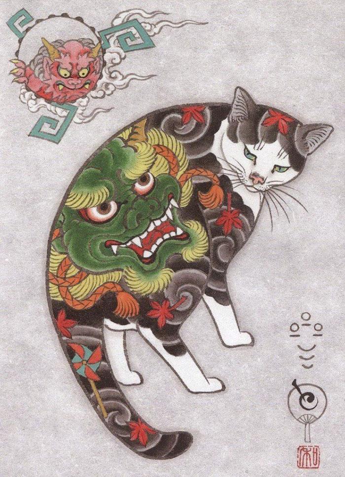 고양이와 문신이 너무 좋아! MONM