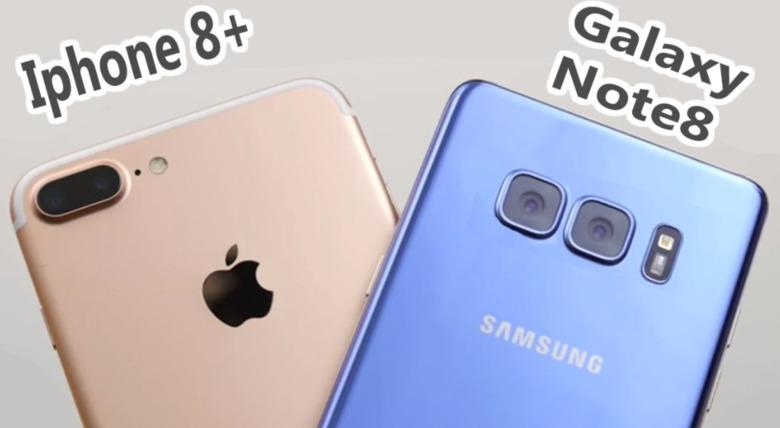 갤노트8 vs 아이폰8플러스 낙하 테