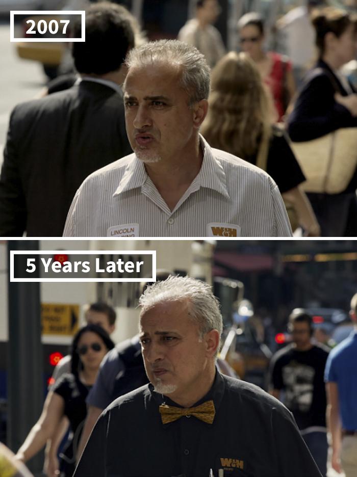 10년 동안 시간이 지남에 따라 변한