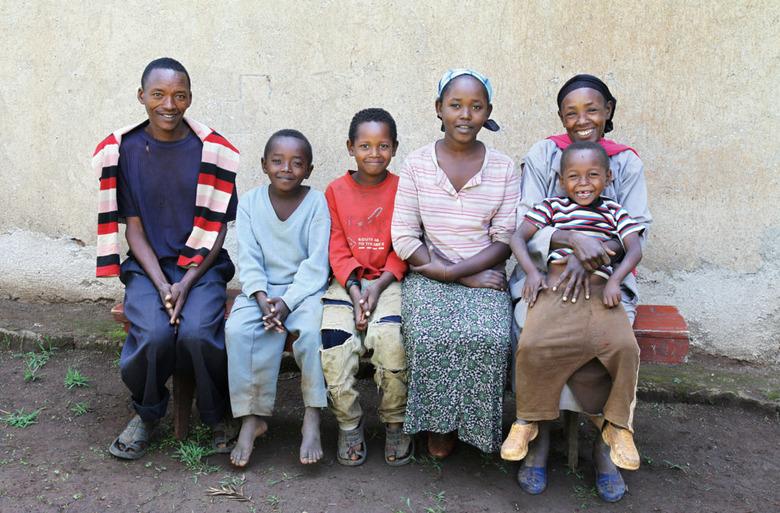 에티오피아에서 찍은 가족 사진