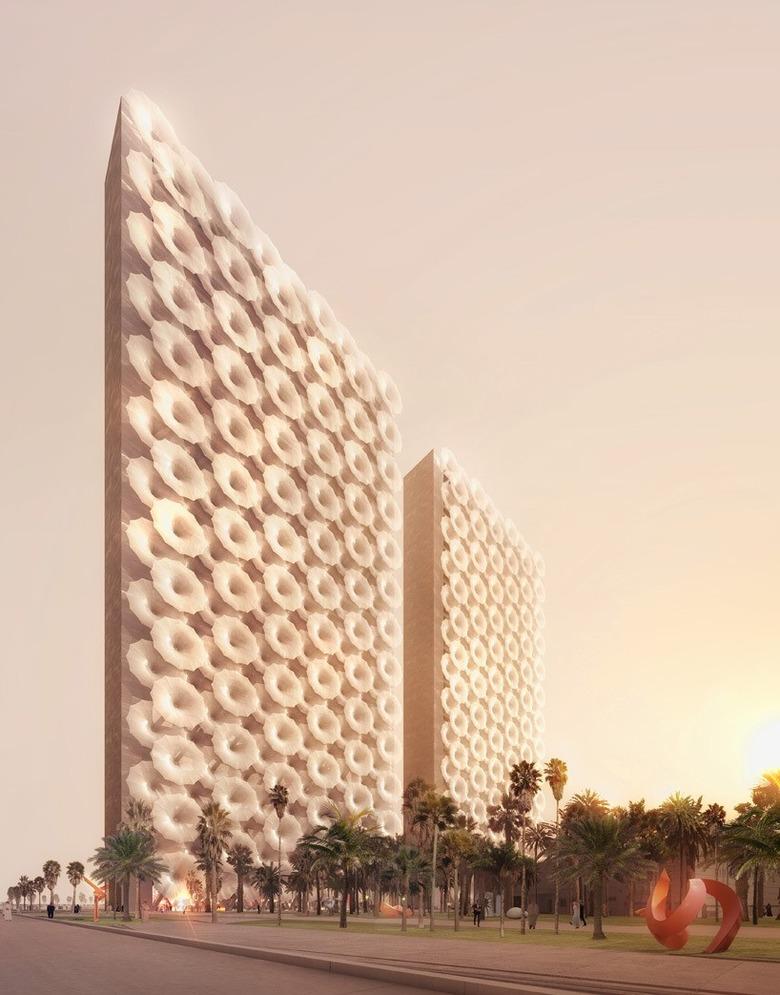 '우산을?' 고층빌딩이 태양을 피하는