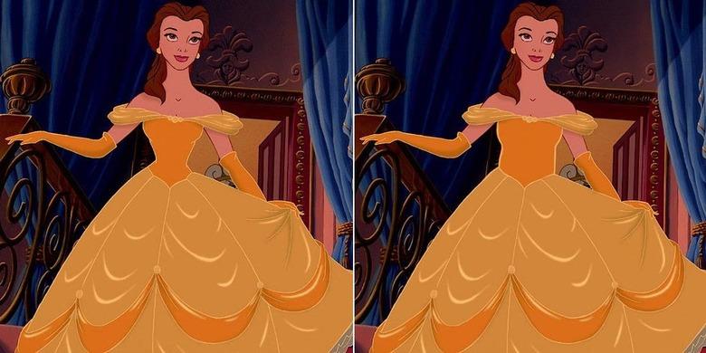 디즈니 공주들이 현실적인 허리라인을