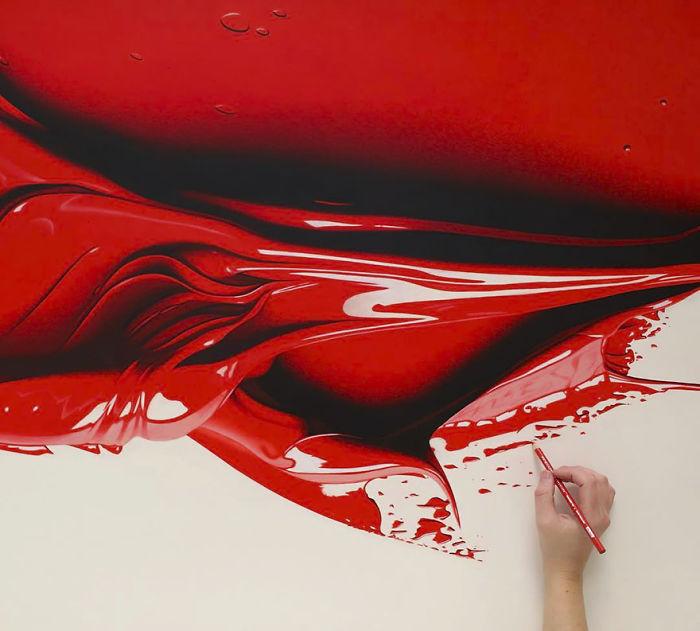 색연필로 완성한 하이퍼리얼리즘 페인트