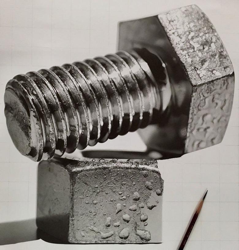 놀라운 하이퍼 리얼리즘 연필 드로잉