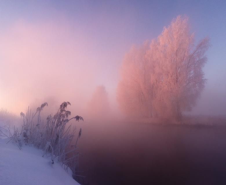 천국같이 아름다운 겨울 아침 전경