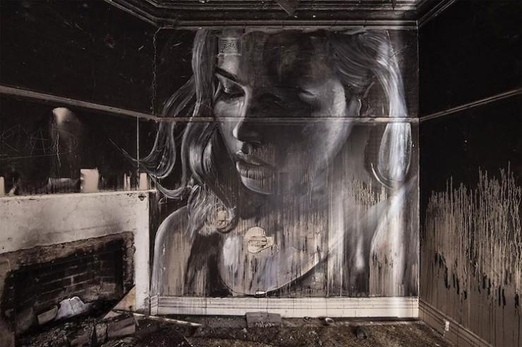 폐건축물에 아름다운 벽화를 그리는 작