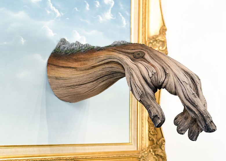 세라믹으로 만든 나무같은 작품