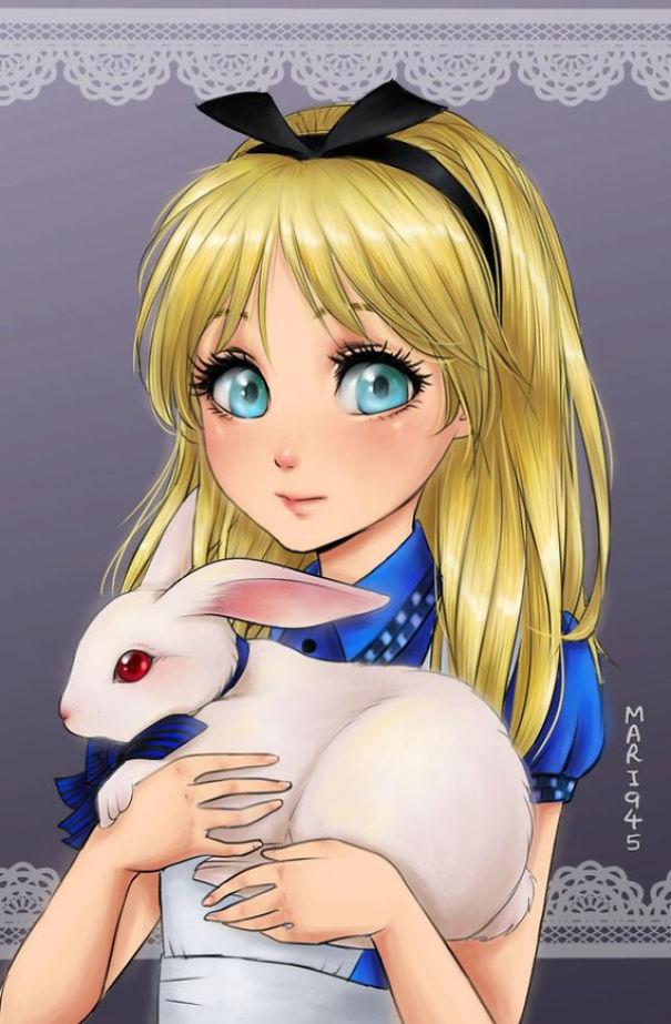 일본 애니메이션 스타일로 재탄생한 디