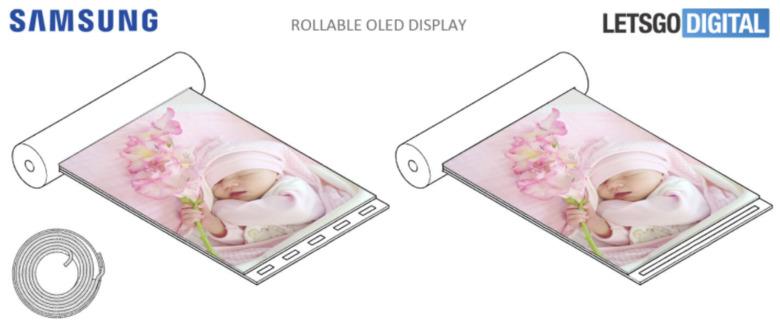 삼성의 롤(Roll) 형태 스마트폰/