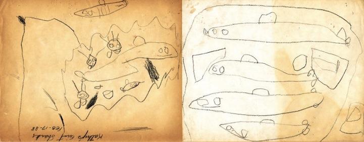 어린 시절의 그림을 프로가 되어 다시