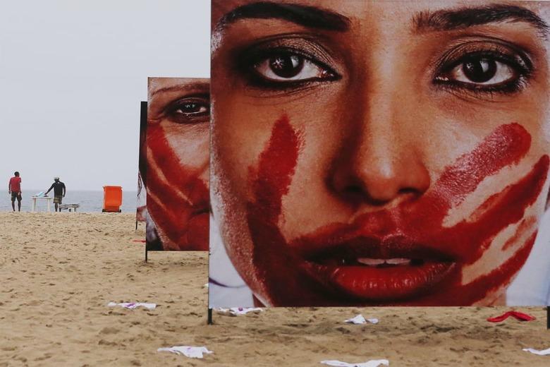 여성속옷 420장으로 만든 브라질 성