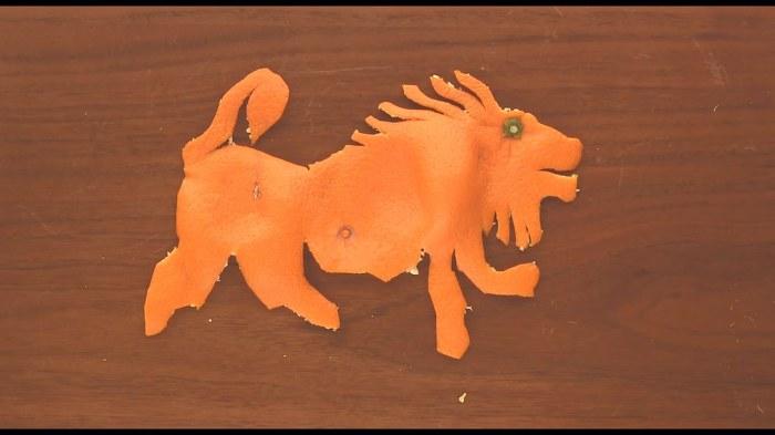 귤 껍질로 만드는 예술 작품