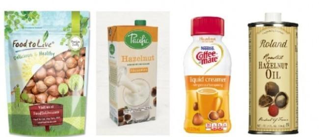 미국에서 판매중인 헤이즐넛 식품들