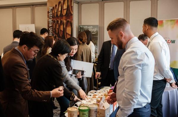 12일 호주대사관이 개최한 '호주 식음료 신제품 쇼케이스' 에는 국내 식품 시장 관계자들의 발걸음이 이어졌다.