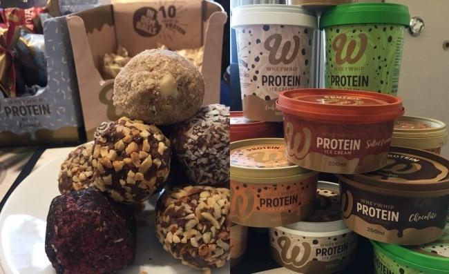 단백질 스낵과 아이스크림
