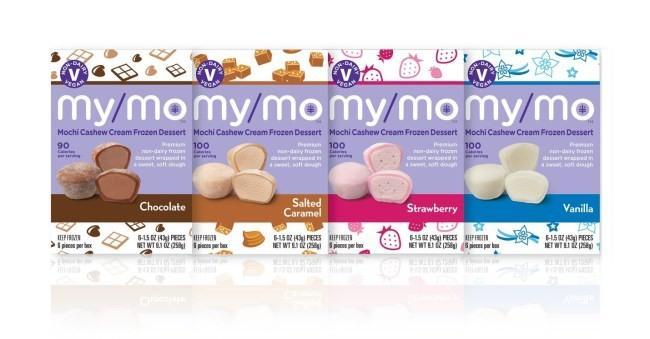 아이스크림 브랜드 마이모(My/Mo)가 선보인 비건 아이스크림. 모찌(찹쌀떡) 모양인 게 특징이다.