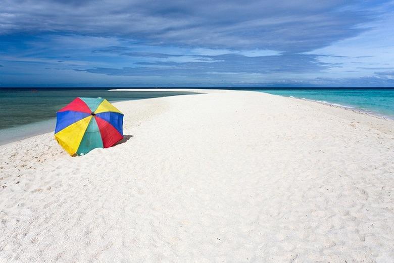 필리핀의 멋진 모랫길(sandbar)