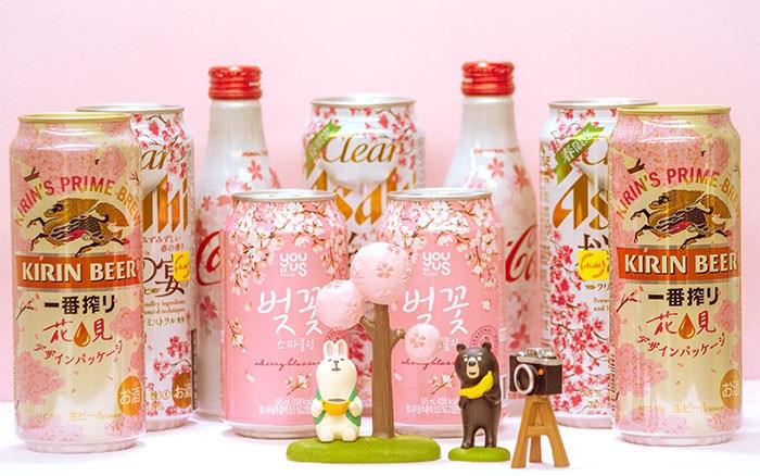 벚꽃 시즌 한정판 음료들. 벚꽃 축제