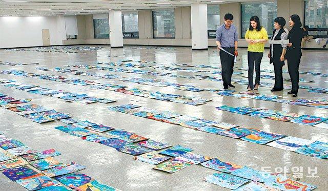 '생명의 바다 그림대회' 기발한 상상