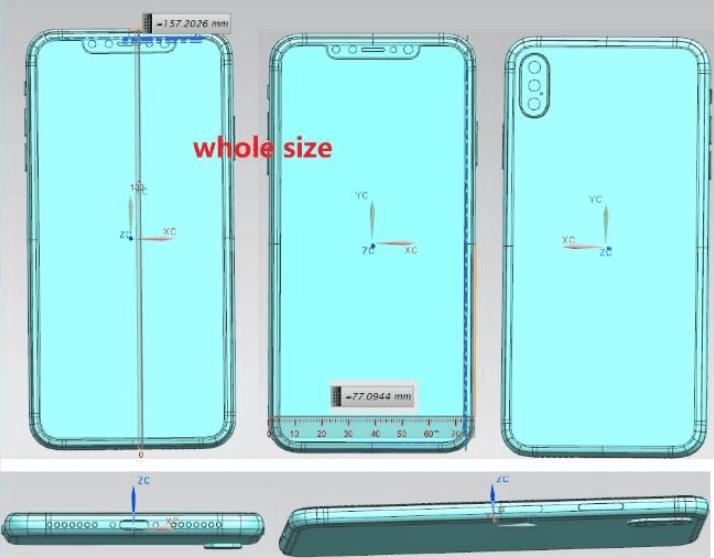 6.5인치, 아이폰X플러스. 트리플
