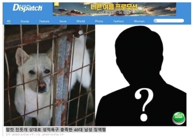 진돗개 성폭행 남성 기사에 '노무현