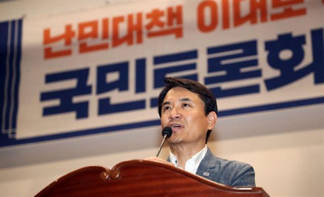 """김승규 전 장관 """"난민이 우리 딸들"""