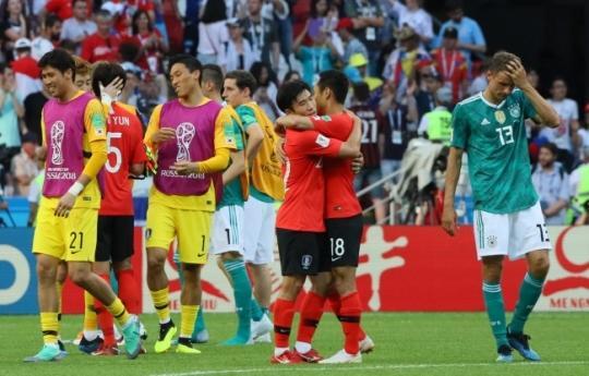 독일 꺾은 한국, 피파랭킹은 57위